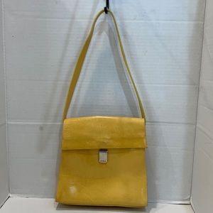 Furla Vintage Yellow Shoulder Bag